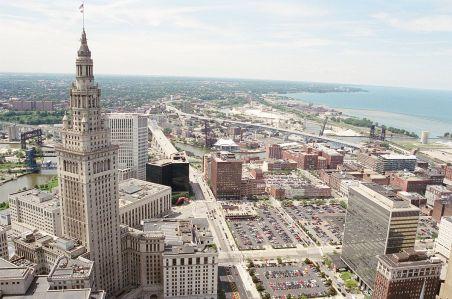 Aerial shot of Cleveland, Ohio. Courtesy: Wikipedia