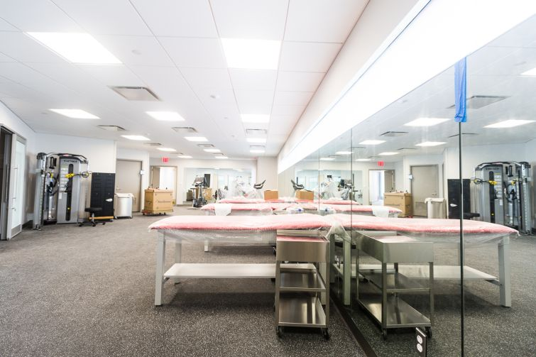 A rehab room. Photo: Emily Assiran/For Commercial Observer
