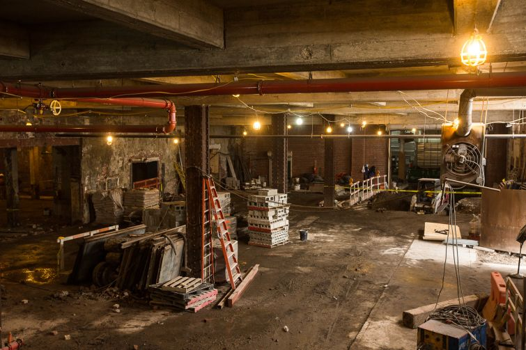 Developers Maddd Equities and the Katz family knocked down dividing walls in 20 Bruckner to create more open space. Photo: Emily Assiran/For Commercial Observer
