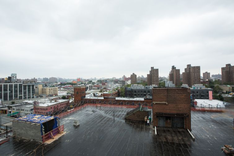 The owners hope to transform the roof of 20 Bruckner into a playground if they rent the building to a school. Photo: Emily Assiran/For Commercial Observer