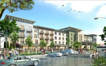 A rendering of a Cambria Suites hotel. Photo: HALL Structured Finance