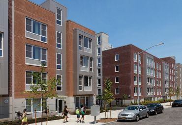 The completed buildings at Prospect Plaza. Photo: Dattner Architects