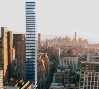 A rendering of 611 West 56th Street.