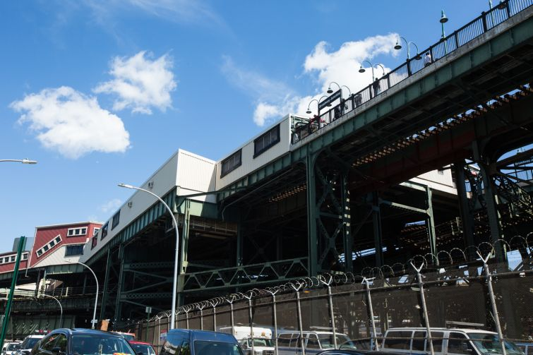 View of Broadway Junction from Van Sinderen Ave. Photo: Emily Assiran for Commercial Observer
