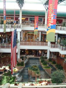 Interior view of the Charleston Town Center Mall. Photo: Wikimedia Commons