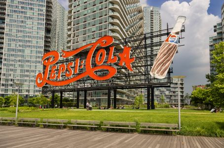 The Coca-Cola sign in Long Island City's Gantry Plaza Park. Photo: Getty Images