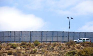 The U.S.-Mexico international border wall between San Diego, Calif. and Tijuana, Mexico.