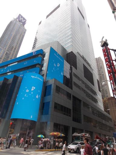 Morgan Stanley's New York headquarters at 1585 Broadway.