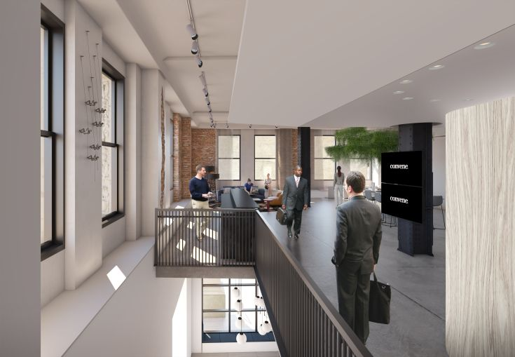 The welcome area for Convene. Rendering: Convene