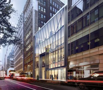 Rendering of 12 West 48th Street in Midtown.