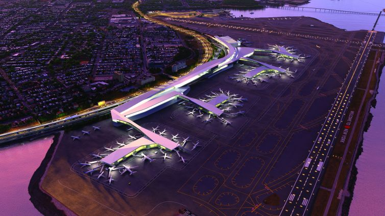 A rendering of the redeveloped LaGuardia Airport.