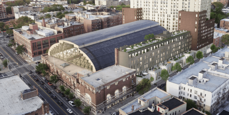 The planned redevelopment of the Bedford Union Armory.