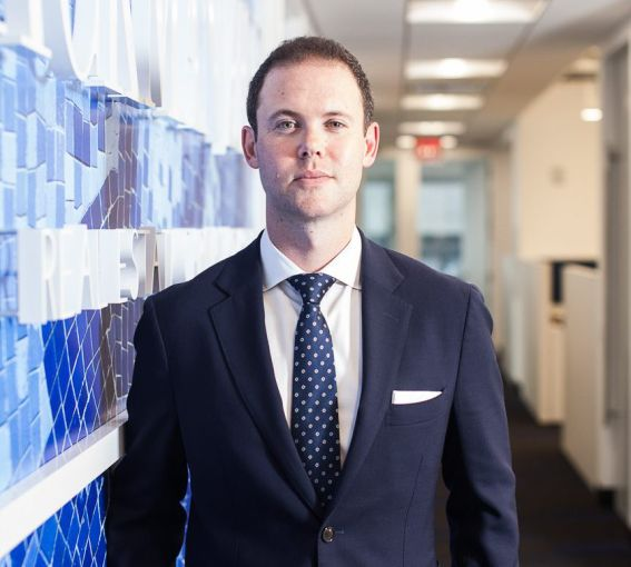 David Borden in Ackman-Ziff's office. Photo: Emily Assiran for Commercial Observer