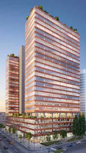 Tishman Speyer's office complex The Jacx in Long Island City, is being constructed by New Line Structures.