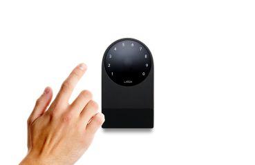 A Latch keyless-entry console.
