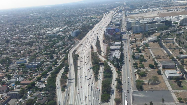 Interstate 405 near the Heights Apartments