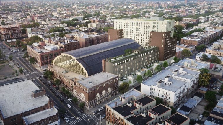 The proposed redevelopment of the Bedford Union Armory in Crown Heights will include rentals, condos and a rec center.