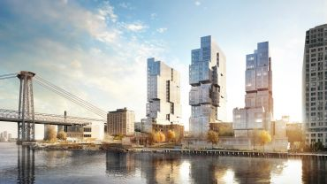Rendering of 420 Kent Avenue in Williamsburg.