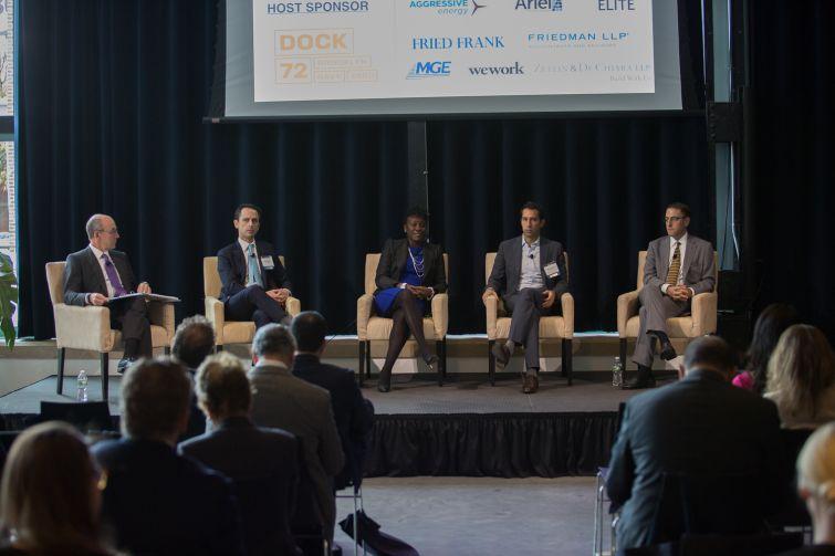 Michael Zetlin, Jeffrey Mandel, Melva M. Miller, Jake Elghanayan, and Seth Pinsky discuss Queens development.