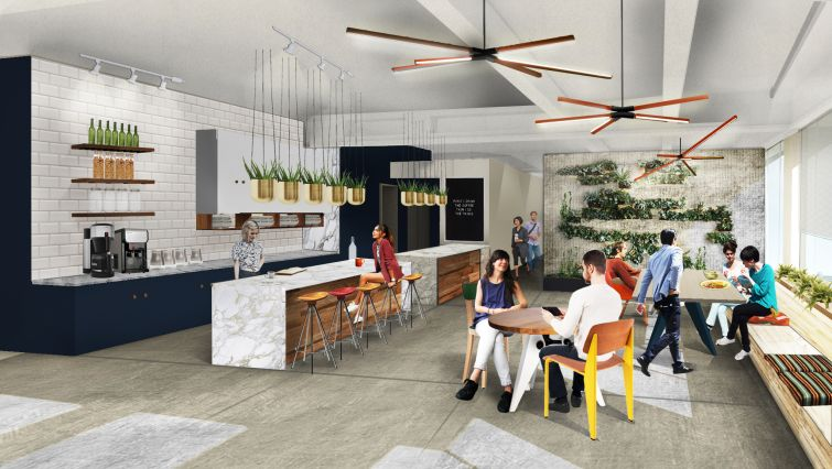 The pantry space is large enough for events and features more plants.