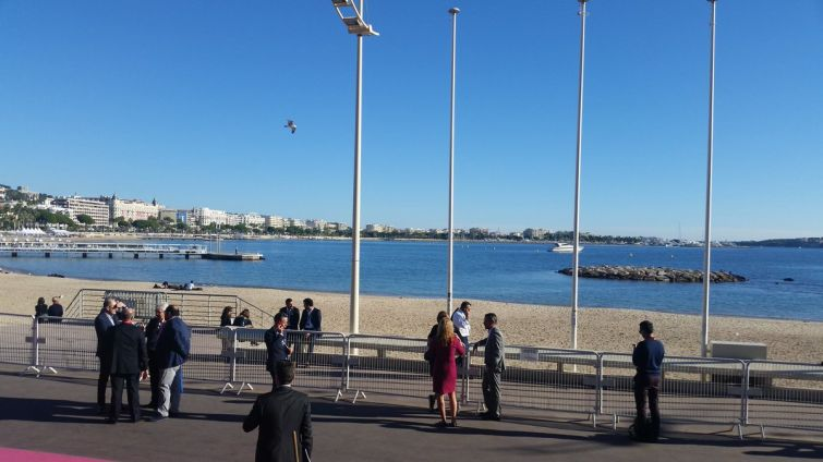 The view from the Palais des Festivals convention center in Cannes, France, home to MAPIC 2017.