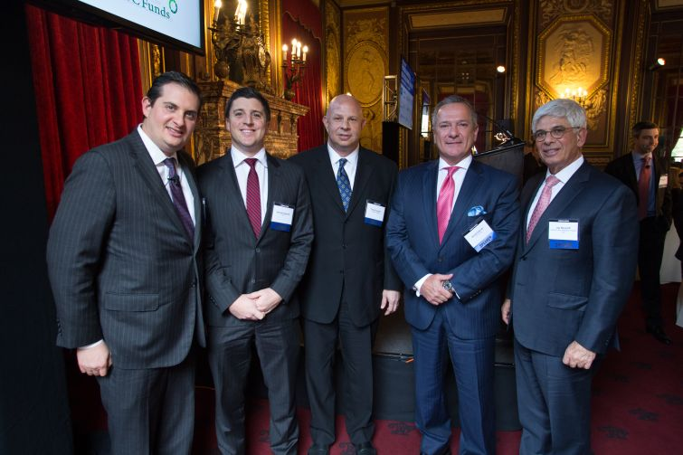 From left to right: Peter Sotoloff, Michael Gigliotti, Tony Fineman, Daniel Palmier and Jay Neveloff