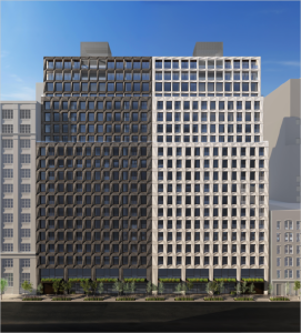 A rendering of the planned Chelsea apartment towers.