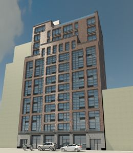 A rendering of 255 East Houston Street.