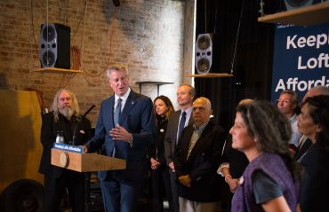 LOFT LIVING: At an October press conference in South Williamsburg, Mayor Bill de Blasio discussed proposed measures that would modify the city's Loft Law.