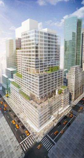 A rendering of 390 Madison, where J.P. Morgan Chase will open a new branch.