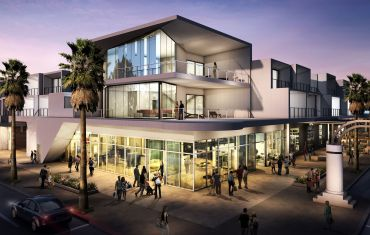 A rendering of the Hyatt Andaz under construction in Palm Springs, Calif.