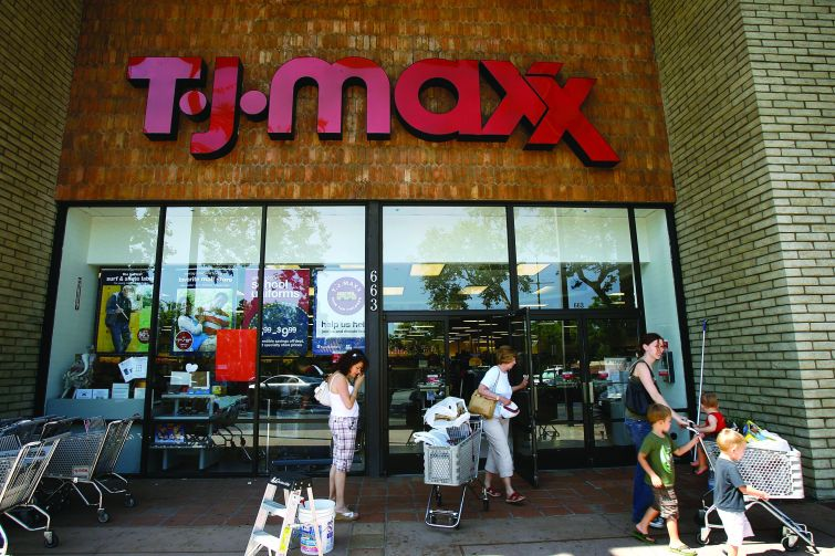 T.J. Maxx, Target and other low-priced retailers are doing well, as are those at the high-end.