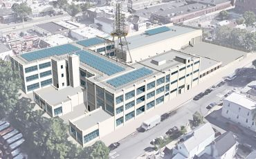 A rendering of the redeveloped factory.