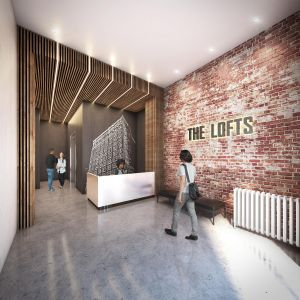 Entrance to The Lofts.