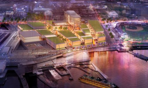 EMPIRE STATE OF MIND: Leases at Empire Outlets, under development on Staten Island, were done with a base plus a percentage rent.