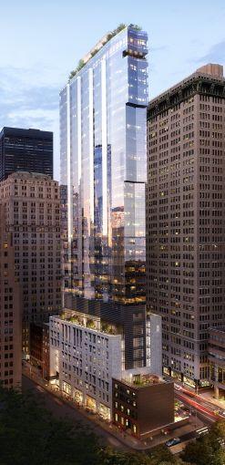 A rendering of 77 Greenwich Street.