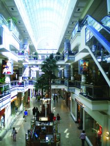 Interior view of West L.A.'s Westside Pavilion mall.