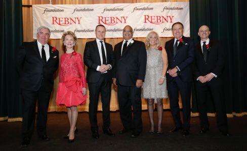 From left: Gene Boniberger, Elizabeth Stribling, Rob Speyer, John Banks, Joanne Podell, Richard LeFrak and Ron Lo Russo.