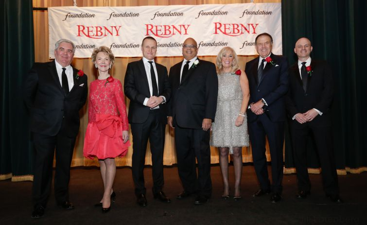 From left: Gene Boniberger, Elizabeth Stribling, Rob Speyer, John Banks, Joanne Podell, Richard LeFrak and Ron Lo Russo.