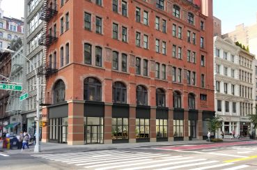 Rendering of the storefronts at 186 Fifth Avenue.