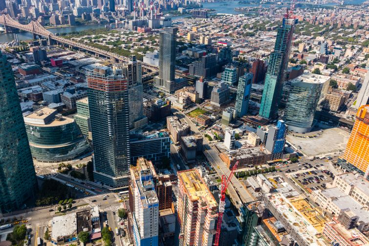 An ariel picture of Long Island City.
