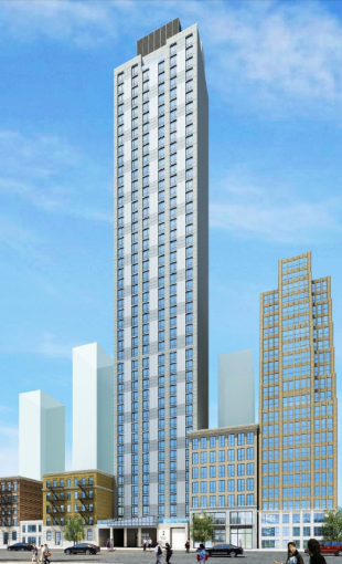 A rendering of 140 West 28th Street.