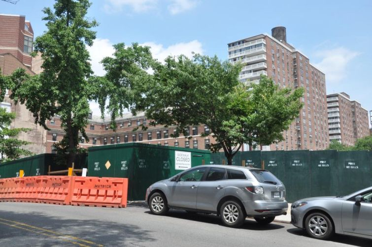 The development site for Vandewater, located at 525 West 122nd Street in Morningside Heights.