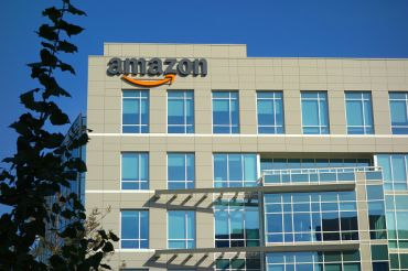 Amazon corporate office building in Sunnyvale, Calif.