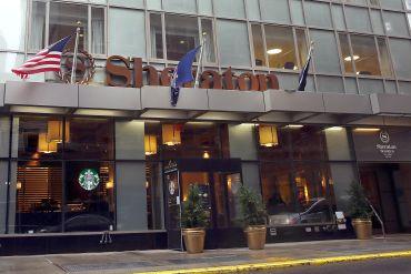 A Sheraton hotel in downtown Brooklyn.