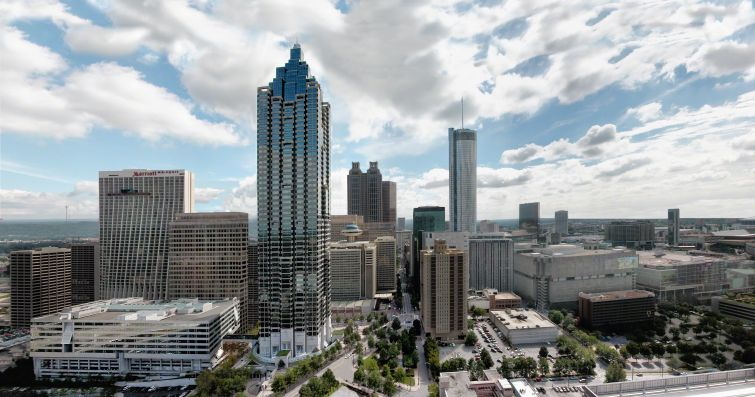 The 18.9-million-square-foot Peachtree Center.