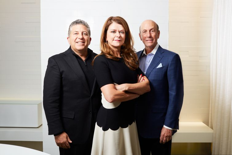 MaryAnn Gilmartin, center, left Forest City New York after 24 years to found L&L MAG with Robert Lapidus (left) and David Levinson of L&L Holdings.