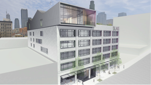 A rendering of the Norton building following its conversion to office space.