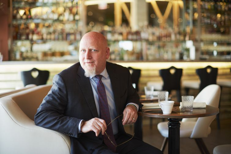 BITE KNIGHT: Spencer Levy negotiated the lease for Gabriel Kreuther in Midtown, where he is seated for lunch.
