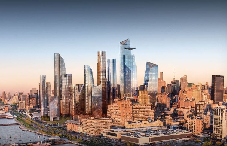 Rendering of Hudson Yards.
